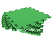 """Коврик-пазл Экополимеры (9 плит 33x33x0,9см, ~1кв.м./уп) """"Зеленый"""""""