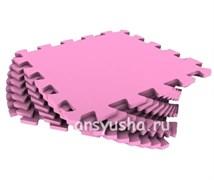 """Коврик-пазл Экополимеры (9 плит 33x33x0,9см, ~1кв.м./уп) """"Розовый"""""""