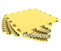 """Коврик-пазл Экополимеры (9 плит 33x33x0,9см, ~1кв.м./уп) """"Желтый"""""""