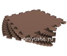 """Коврик-пазл Экополимеры (9 плит 33x33x0,9см, ~1кв.м./уп) """"Шоколадный"""""""