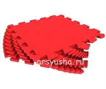 """Коврик-пазл Экополимеры (9 плит 33x33x0,9см, ~1кв.м./уп) """"Красный"""""""