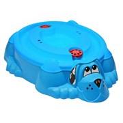 Песочница-бассейн PalPlay 432 Собачка с крышкой голубой с голубой крышкой