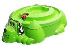 """Песочница-бассейн """"Собачка с крышкой"""" 432 зелёный с зелёной крышкой"""