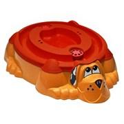 Песочница-бассейн PalPlay 432 Собачка с крышкой красный с оранжевой крышкой
