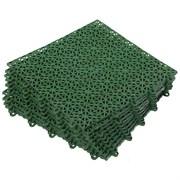 Покрытие пластиковое, универсальное 1м.кв. (9 плиток), зеленый