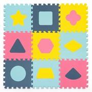 """Игровой коврик-пазл Funkids 12 """"Геометрия""""   толщина 15 мм (9 частей) - серия NT"""