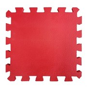 """Коврик-пазл BABYPUZZ (4 плиты 50x50x1см, 1кв.м./уп), текстура """"кожа"""", красный"""