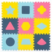 """Игровой коврик-пазл Funkids 12 """"Геометрия""""   толщина 10 мм (9 частей) - серия NT10"""