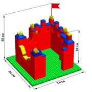 """Большой конструктор LK """"Крепость"""" GB5"""" M на платформе 28х28, для детей 2-5 лет"""