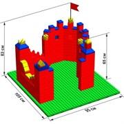 """Большой конструктор LK """"Крепость"""" GB5"""" L на платформе 32х35, для детей 2-5 лет"""