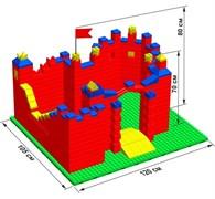 """Большой конструктор LK """"Замок"""" GB5"""" M на платформе 40х35, для детей 2-5 лет"""