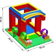 """Большой конструктор LK """"Домик"""" GB5"""" S на платформе 20х28, для детей 2-5 лет"""