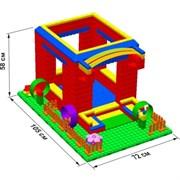 """Большой конструктор LK """"Домик"""" GB5"""" M на платформе 24х35, для детей 2-5 лет"""