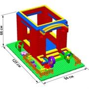 """Большой конструктор LK """"Домик"""" GB5"""" L на платформе 28х42, для детей 2-5 лет"""