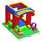 """Большой конструктор LK """"Домик"""" GB7,5"""" S на платформе 20х28, для детей 3-8 лет"""