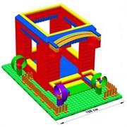 """Большой конструктор LK """"Домик"""" GB7,5"""" M на платформе 24х35, для детей 3-8 лет"""