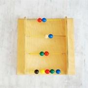 """Тактильно-развивающая панель с текстурами """"Цветные шарики"""""""