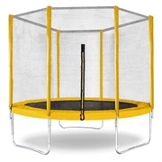 "Батут с защитной сеткой ""Trampoline 10"" диаметр 3,0 м жёлтый"