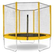 "Батут с защитной сеткой ""Trampoline 8"" диаметр 2,4 м жёлтый"