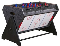 Стол-трансформер Vortex 3-in-1 (3 игры: аэрохоккей, футбол, бильярд, 127 х 78.7 х 86.4 см, серый) wk