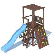 Детский спортивный комплекс TL A 1.1 крыша плоская деревянная
