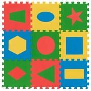 "Коврик-пазл Экополимеры (9 плит 33x33x0,9см, ~1кв.м./уп) ""Геометрия"""