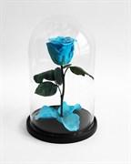 Роза в колбе Mini SKY BLUE (голубая)