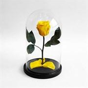 Роза в колбе Mini YELLOW (желтая)