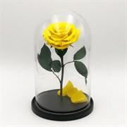 Роза в колбе VIP YELLOW (желтая)