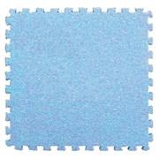 Коврик-пазл LUX с ворсом, 30х30х0,7 см, голубой