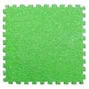 Коврик-пазл LUX с ворсом, 30х30х0,7 см, зеленый