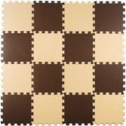 """Коврик-пазл Экополимеры (16 плит 25x25x0,9см, 1кв.м./уп) """"Бежево-коричневый"""""""