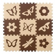 "Коврик-пазл Экополимеры (9 плит 33x33x0,9см, ~1кв.м./уп) ""Бабочки-2"""