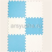 "Коврик-пазл EcoCover (6 плит 30х30х1,4см, 0,54кв.м./уп) ""Бело-голубой"""