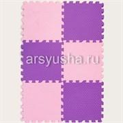 "Коврик-пазл EcoCover (6 плит 30х30х1,4см, 0,54кв.м./уп) ""Розово-фиолетовый"""