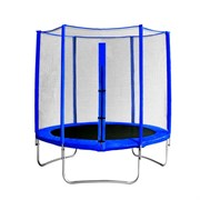 "Батут с защитной сеткой ""Trampoline 10"" диаметр 3,0 м синий"