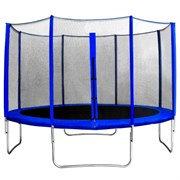 "Батут с защитной сеткой ""Trampoline 12"" диаметр 3,7 м синий"