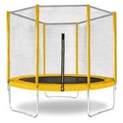 "Батут с защитной сеткой ""Trampoline 6"" диаметр 1,8 м жёлтый"