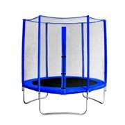 "Батут с защитной сеткой ""Trampoline 6"" диаметр 1,8 м синий"