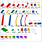"Большой конструктор LK ""Дворец"" GB7,5"" L на платформе 48х56, для детей 3-8 лет - фото 697905"
